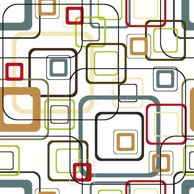 Rétro configuration carrée vive illustration de vecteur