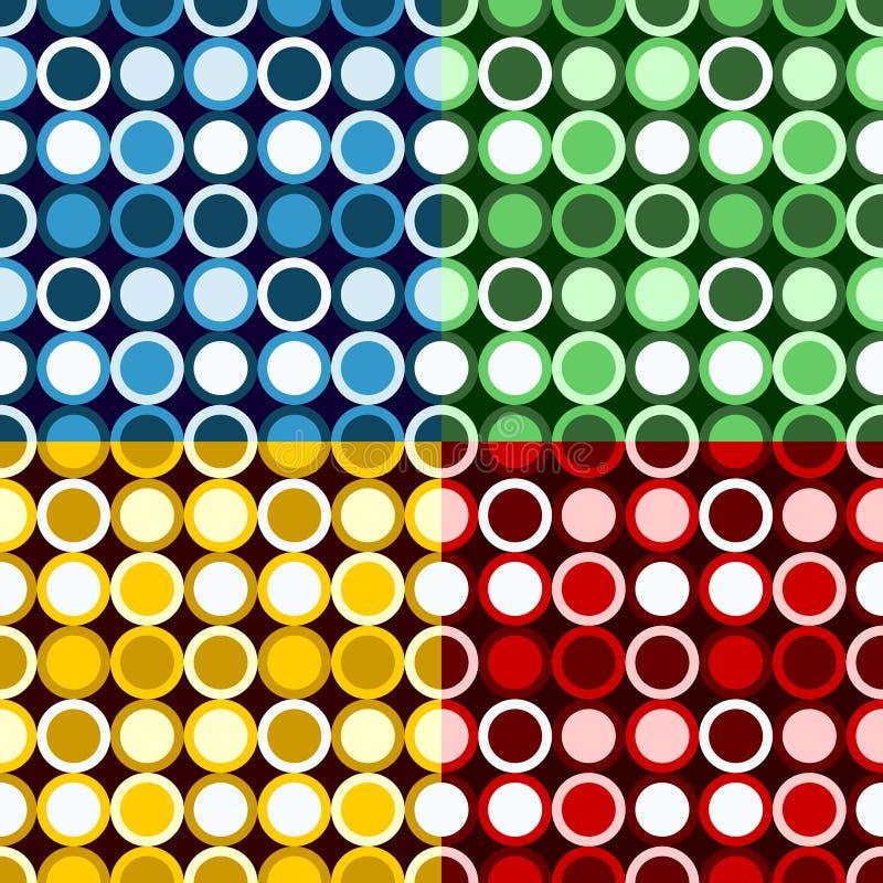 Rétro configuration de cercles illustration libre de droits