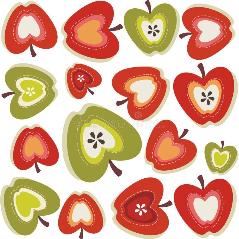 Rétro configuration de pomme illustration libre de droits