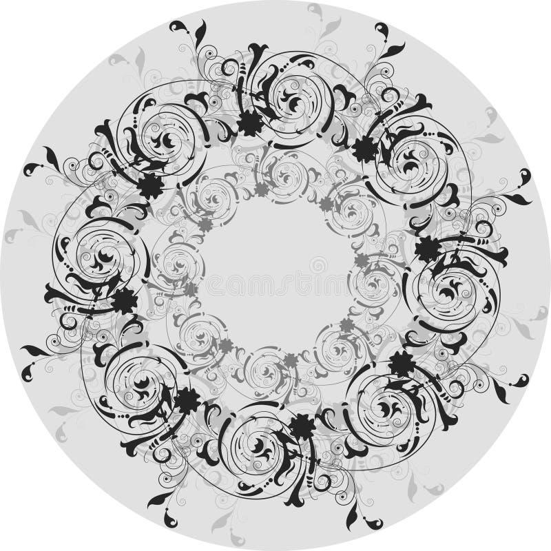 Rétro configuration en cercle illustration libre de droits