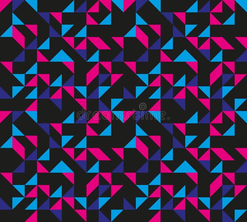 Rétro configuration géométrique sans joint illustration libre de droits