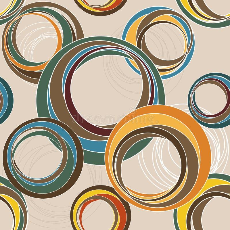 Rétro configuration sans joint illustration stock