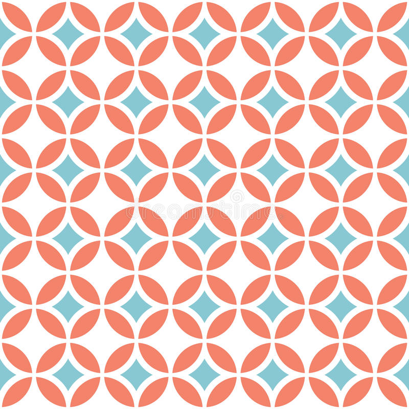 Rétro configuration sans joint géométrique illustration stock