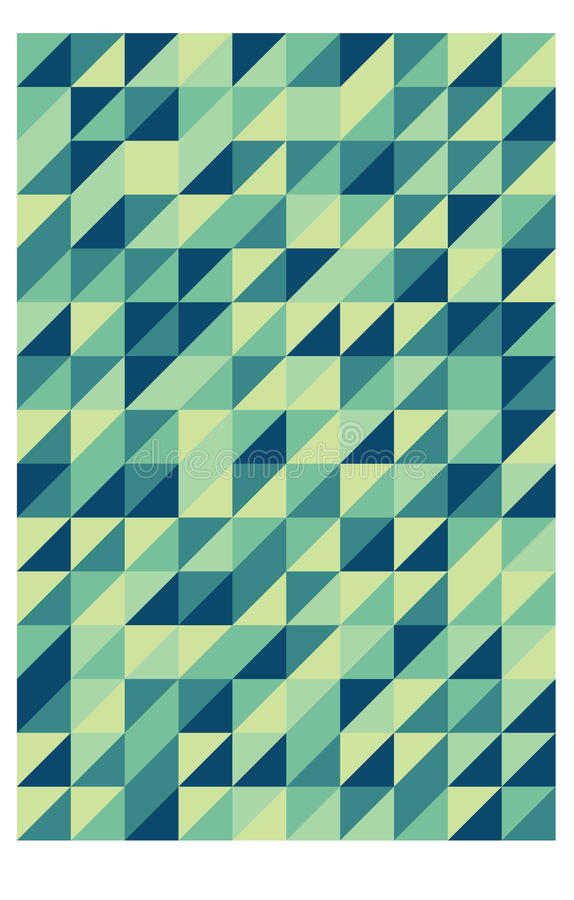 Rétro configuration triangulaire verte illustration de vecteur