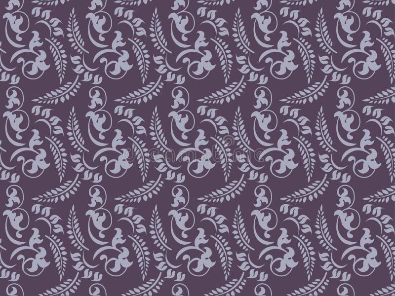 Rétro configurations florales illustration de vecteur