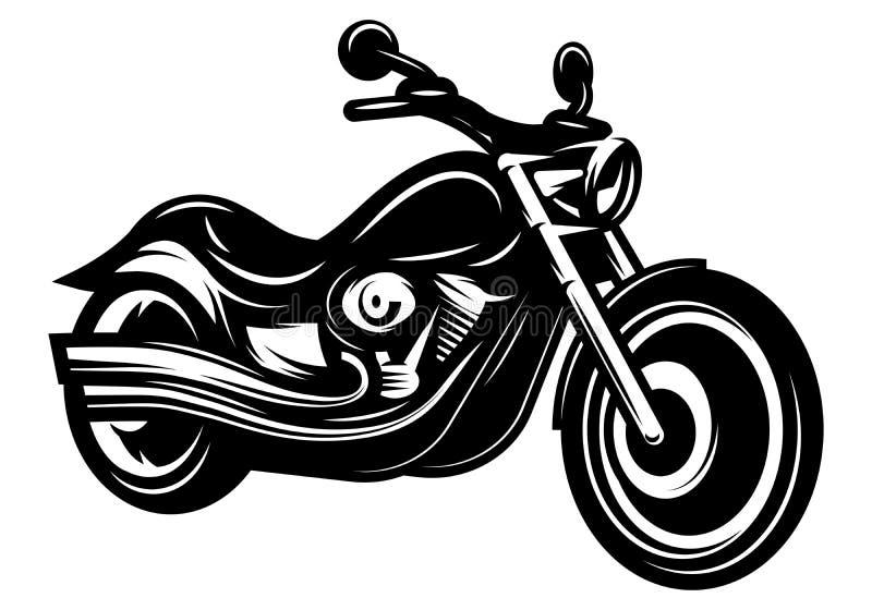 Rétro couperet monochrome de croiseur de vélo pour la conception illustration libre de droits