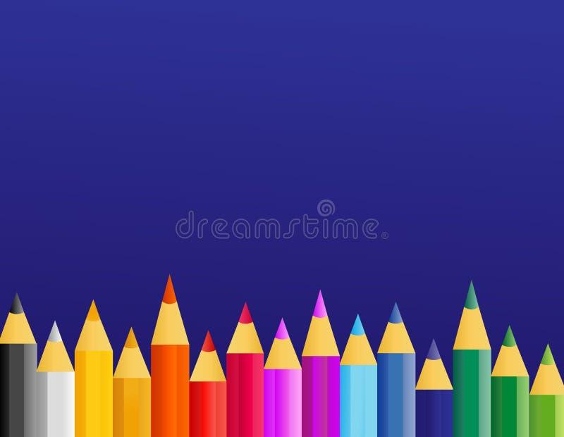 Rétro crayons de peinture de vecteur illustration libre de droits