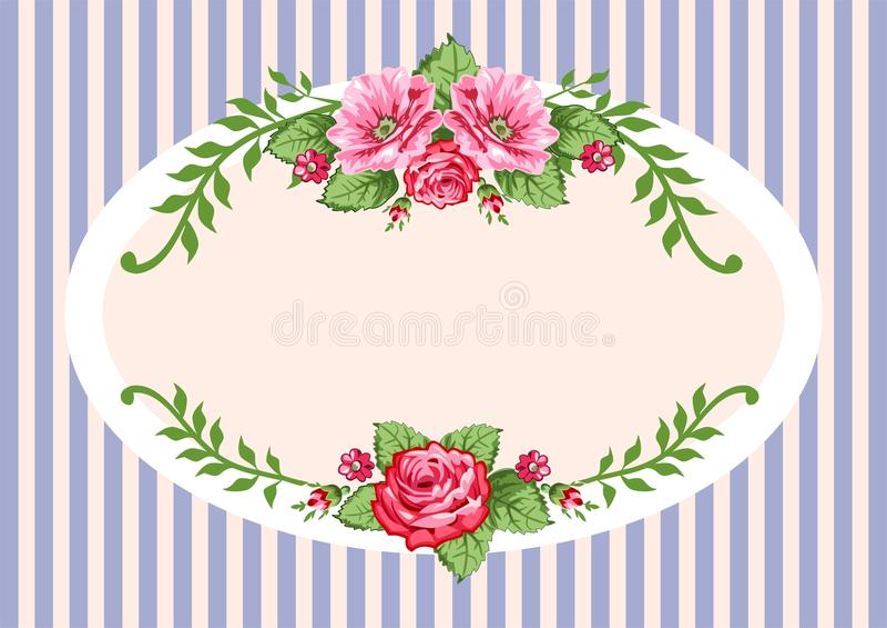 Rétro cru de roses de vecteur illustration libre de droits