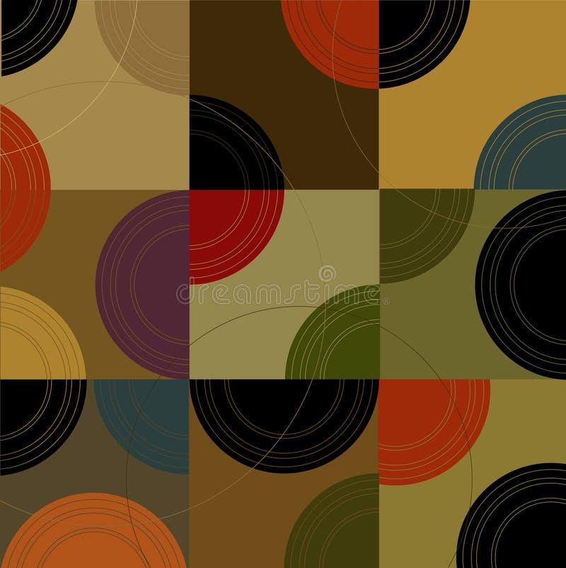 Rétro cubes en cercles n (vecteur) illustration libre de droits