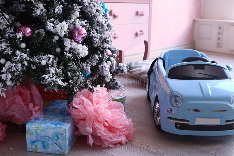 Rétro décoration de Noël de pièce de poussin minable images libres de droits