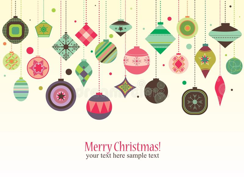 Rétro décorations de Noël photo libre de droits