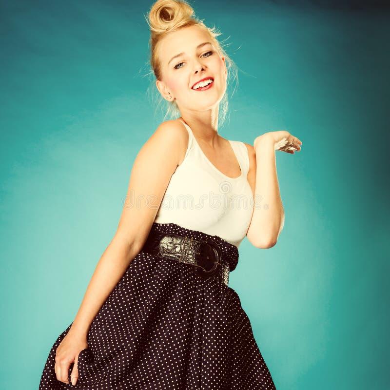 Rétro danseuse de fille de style photo stock