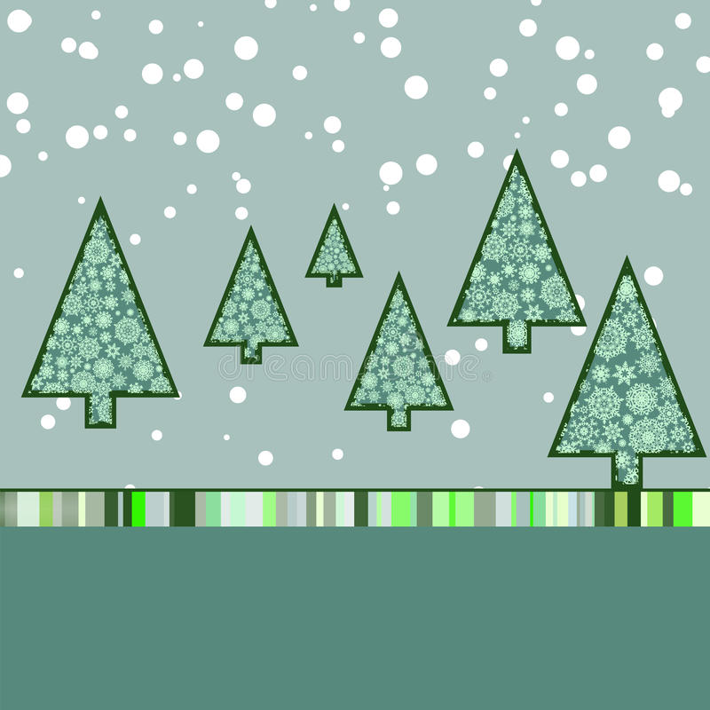 Rétro Descripteur De Carte De Noël. ENV 8 Image libre de droits