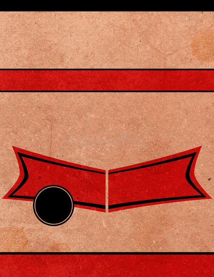Rétro Descripteur De Fond De Playbill D Affiche Photo libre de droits