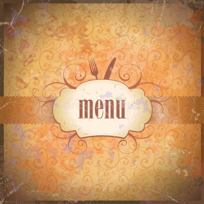Rétro design de carte de carte de restaurant. illustration libre de droits