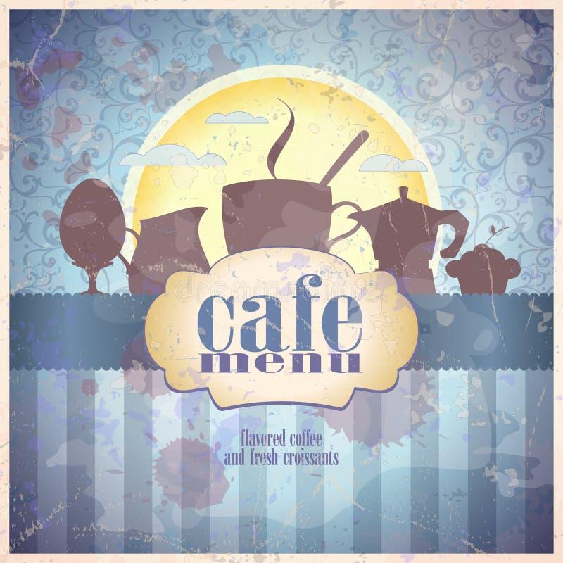 Rétro design de carte de menu de restaurant. Eps10. illustration libre de droits