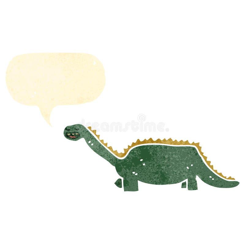 rétro dinosaure de bande dessinée illustration de vecteur