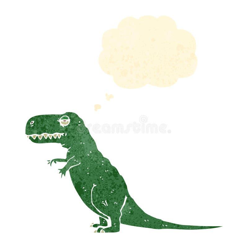rétro dinosaure de bande dessinée illustration libre de droits