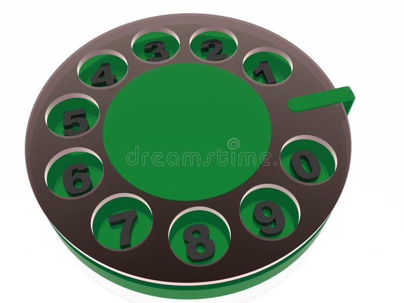 rétro disque de téléphone illustration de vecteur