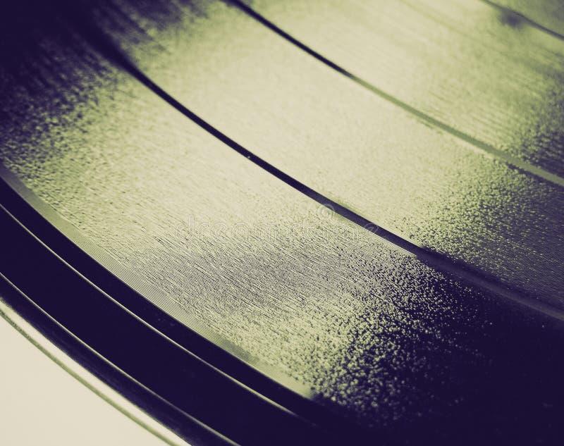 Rétro disque vinyle de regard photographie stock