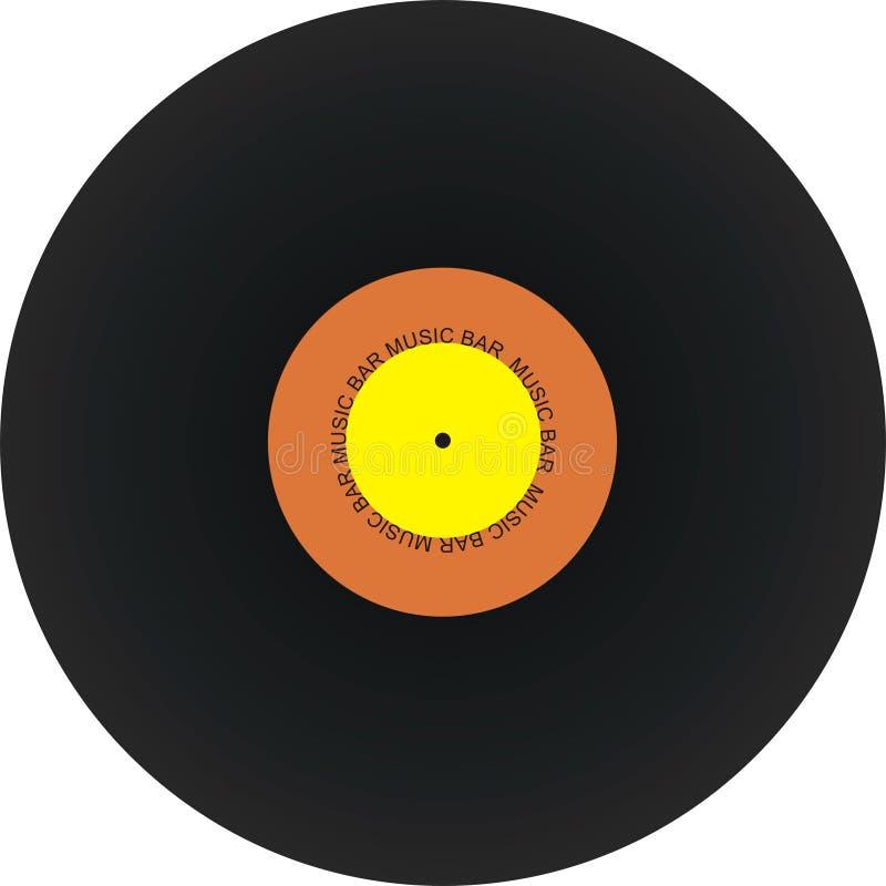Rétro enregistrement de vinyle noir   photo libre de droits