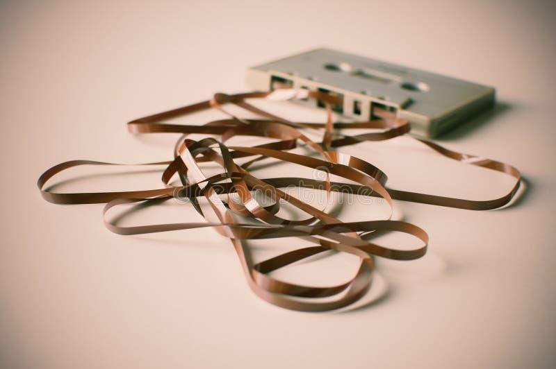 Rétro enregistreur à cassettes de vintage image stock