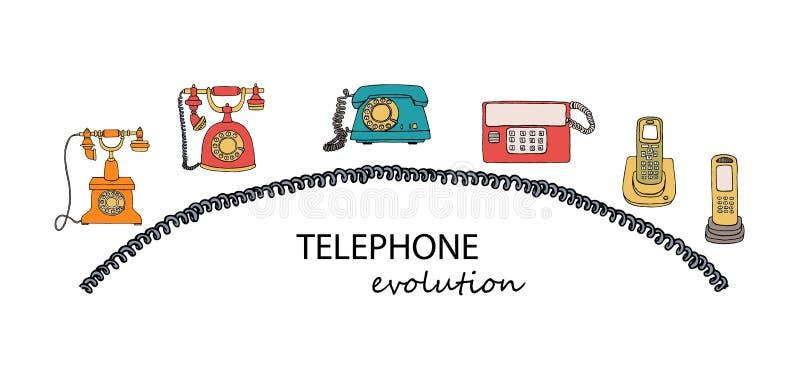 Rétro ensemble de téléphone illustration libre de droits