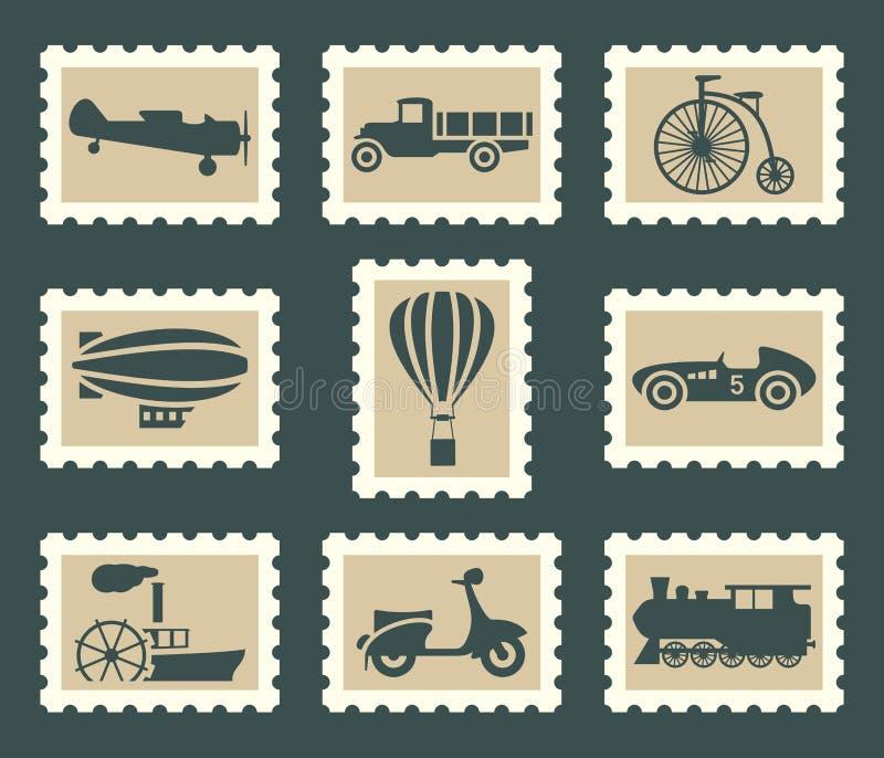 Rétro ensemble de transport illustration libre de droits