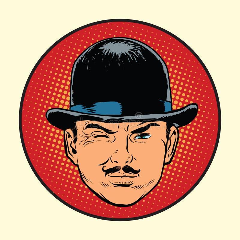 Rétro espion européen ou détective de détective illustration de vecteur