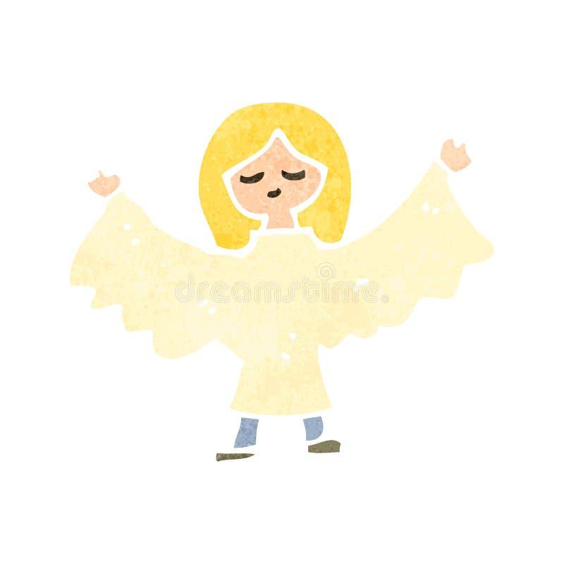 rétro femme d'ange de bande dessinée illustration stock