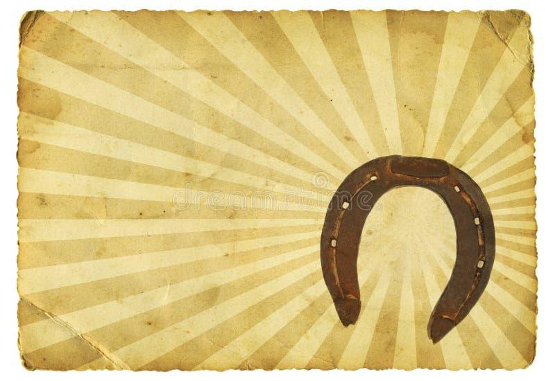 Rétro fer à cheval photographie stock