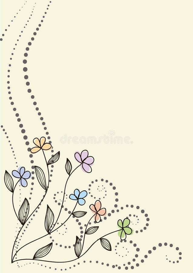 Rétro fleur illustration libre de droits