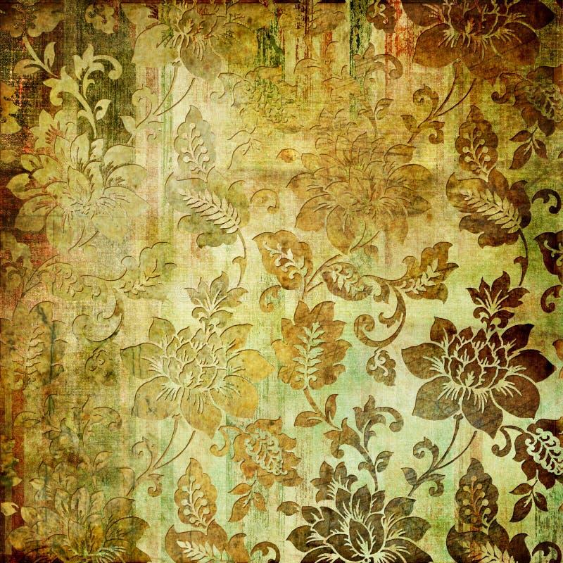 Rétro floral illustration de vecteur