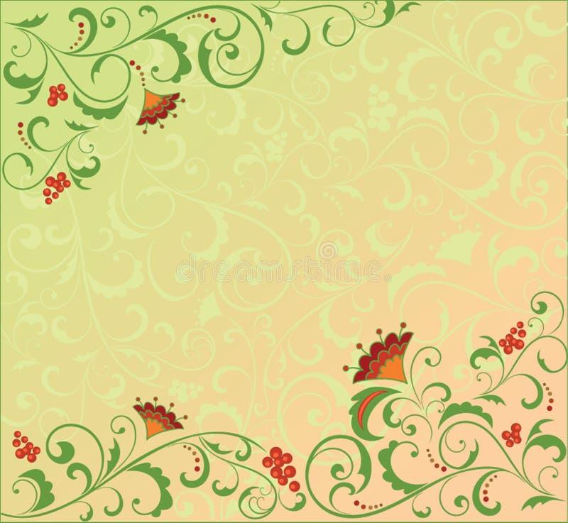 rétro floral de fond illustration de vecteur