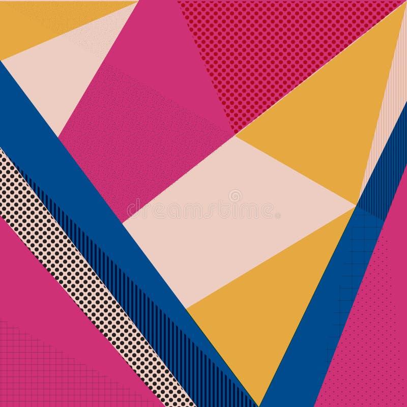 Rétro fond abstrait de conception, style de Memphis illustration libre de droits