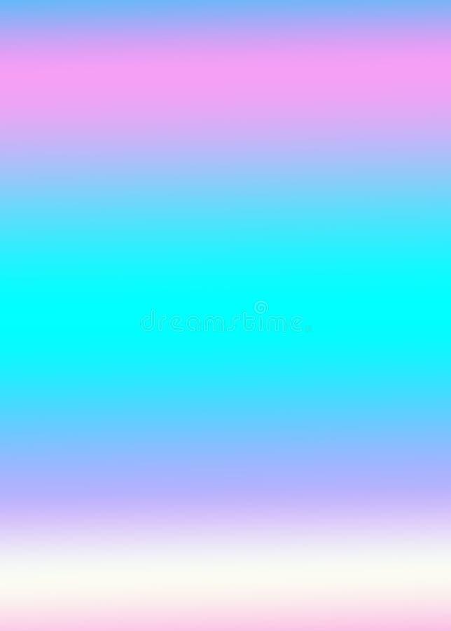 Rétro fond au néon coloré avec le modèle rose et bleu mou géométrique illustration stock