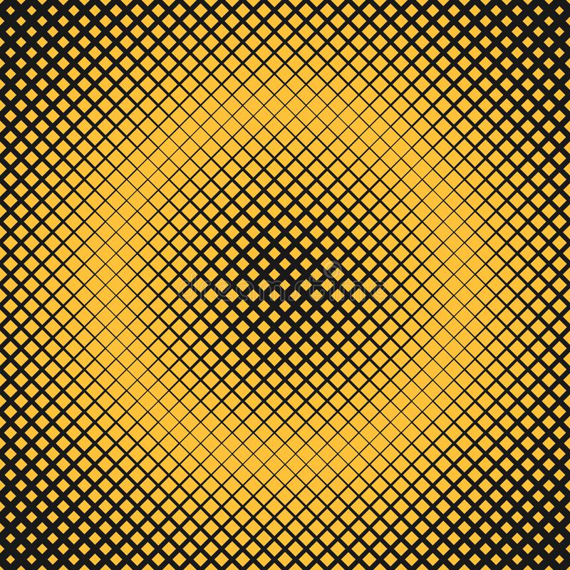 Rétro fond carré tramé abstrait de modèle avec les places diagonales illustration de vecteur