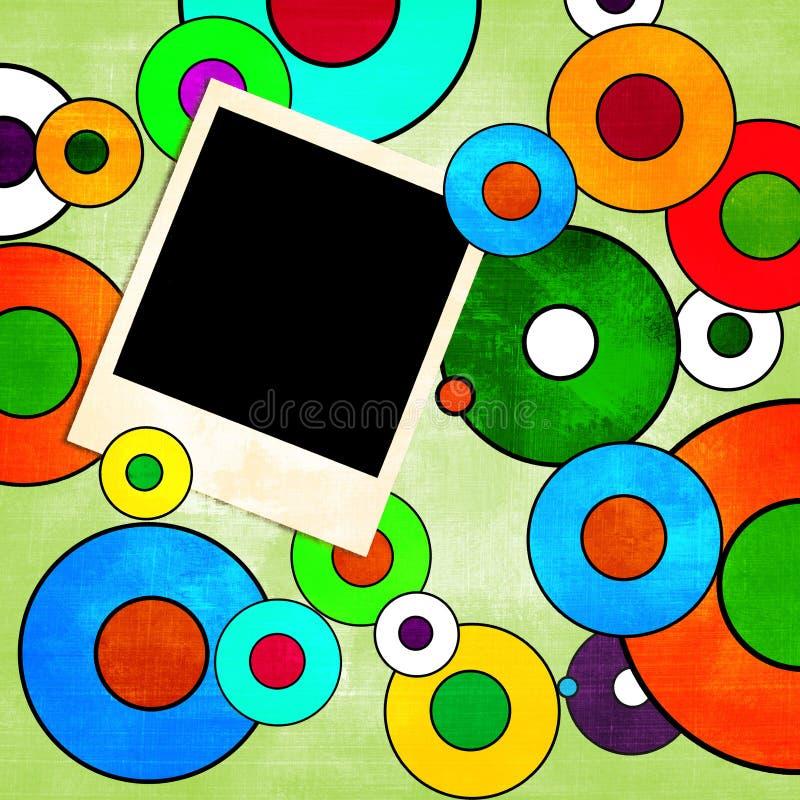 Rétro fond coloré illustration de vecteur