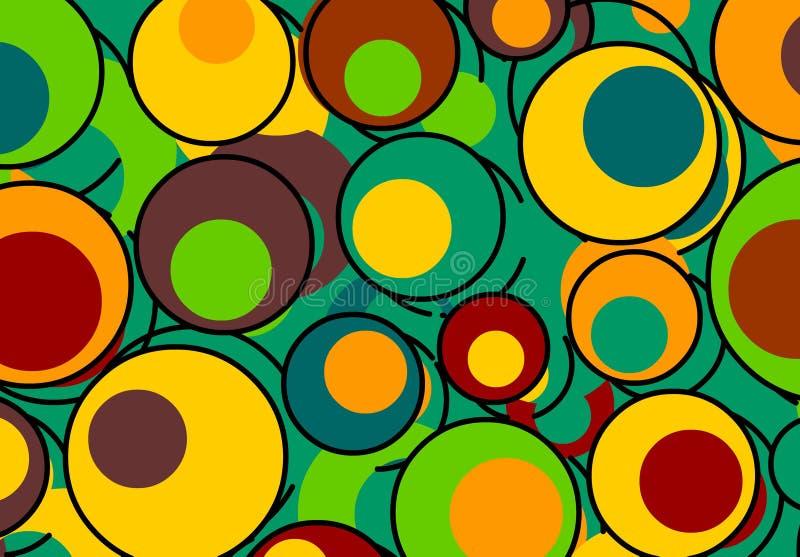 Rétro fond coloré illustration stock