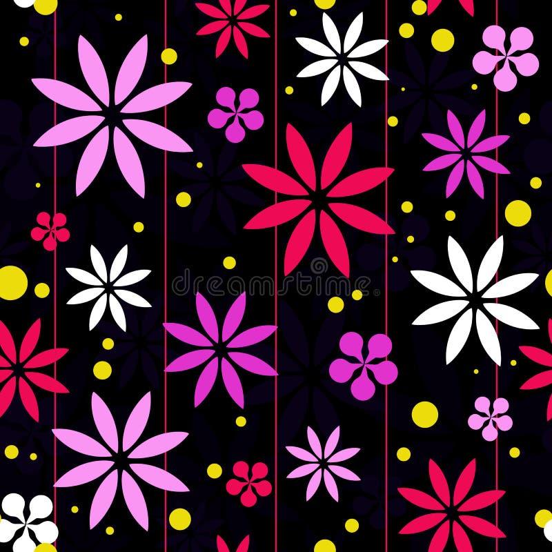 Rétro fond coloré de fleur illustration stock