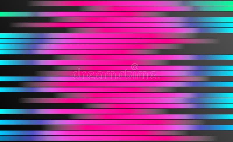 Rétro fond coloré de rayures - papier peint de conception graphique de Digital illustration libre de droits