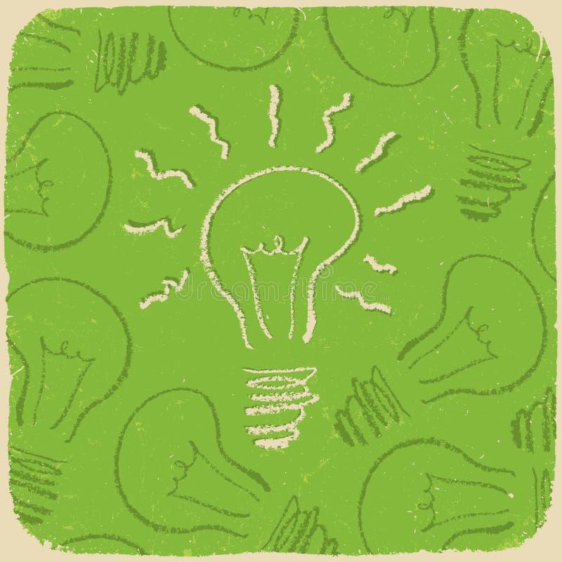 Rétro fond conceptuel avec le symbole d'idée illustration libre de droits