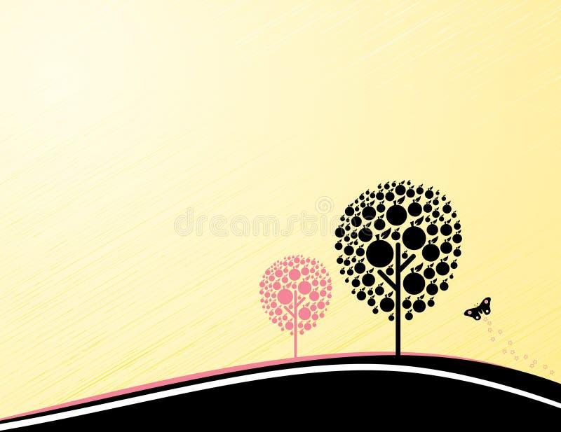 Rétro fond dénommé d'automne illustration de vecteur
