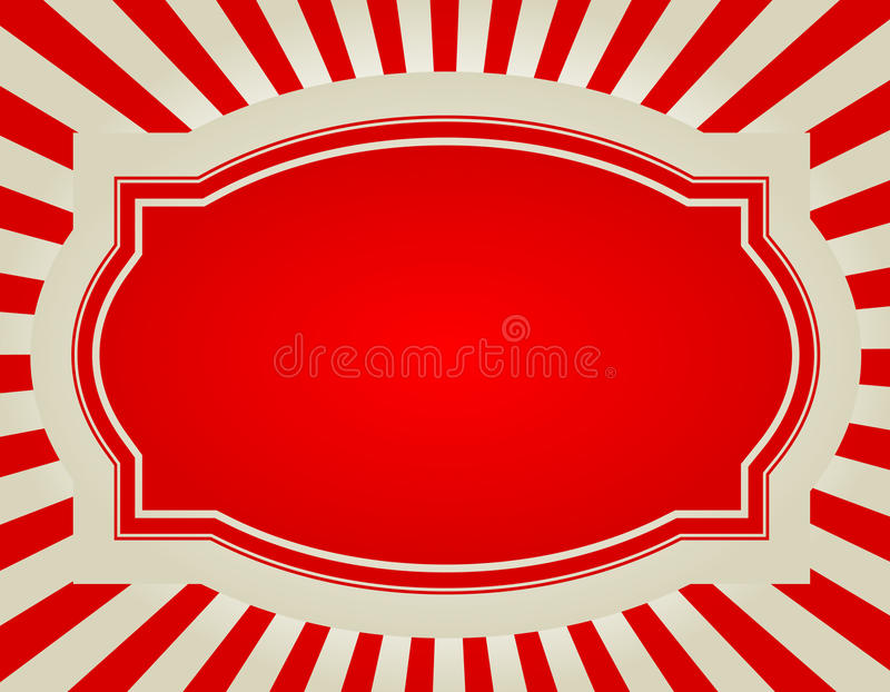Rétro fond d'éclat d'étoile illustration stock