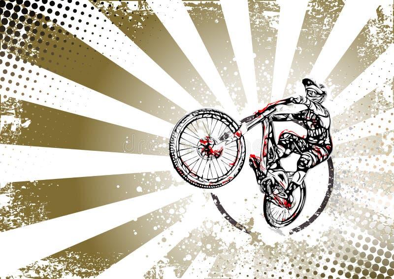Rétro fond d'affiche de style libre de bmx illustration libre de droits