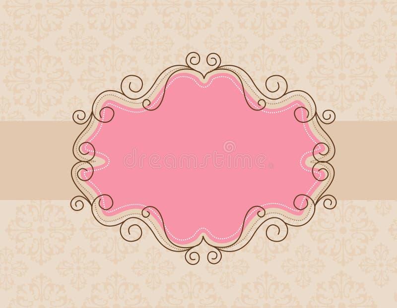 Rétro fond d'invitation illustration stock