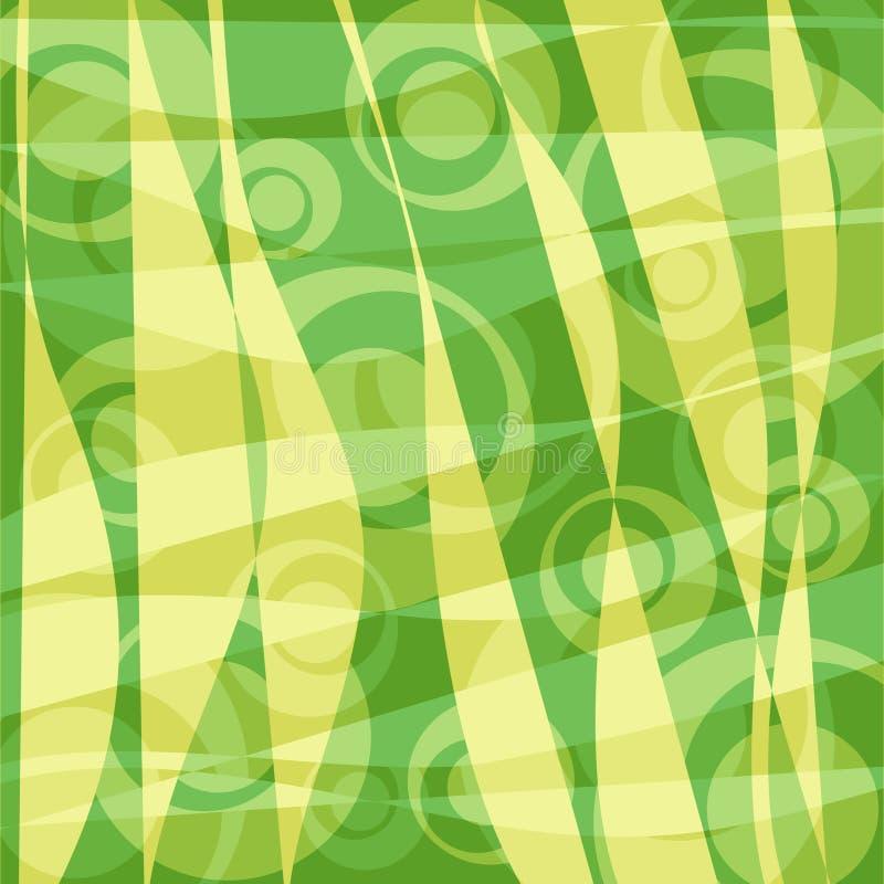 Rétro fond de cercles - vert illustration libre de droits