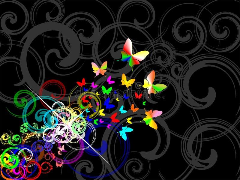 Rétro fond de Colorfull illustration stock