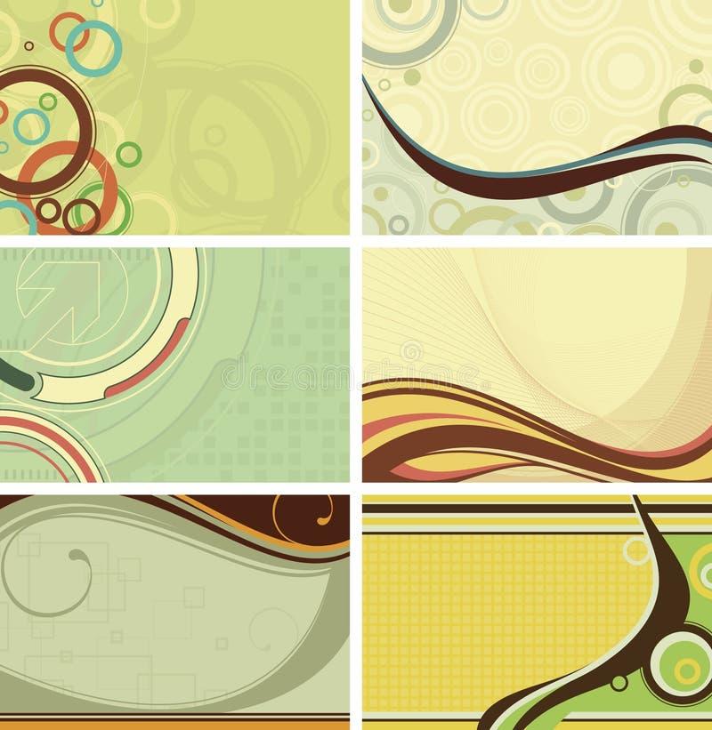 Rétro fond de courbe illustration de vecteur