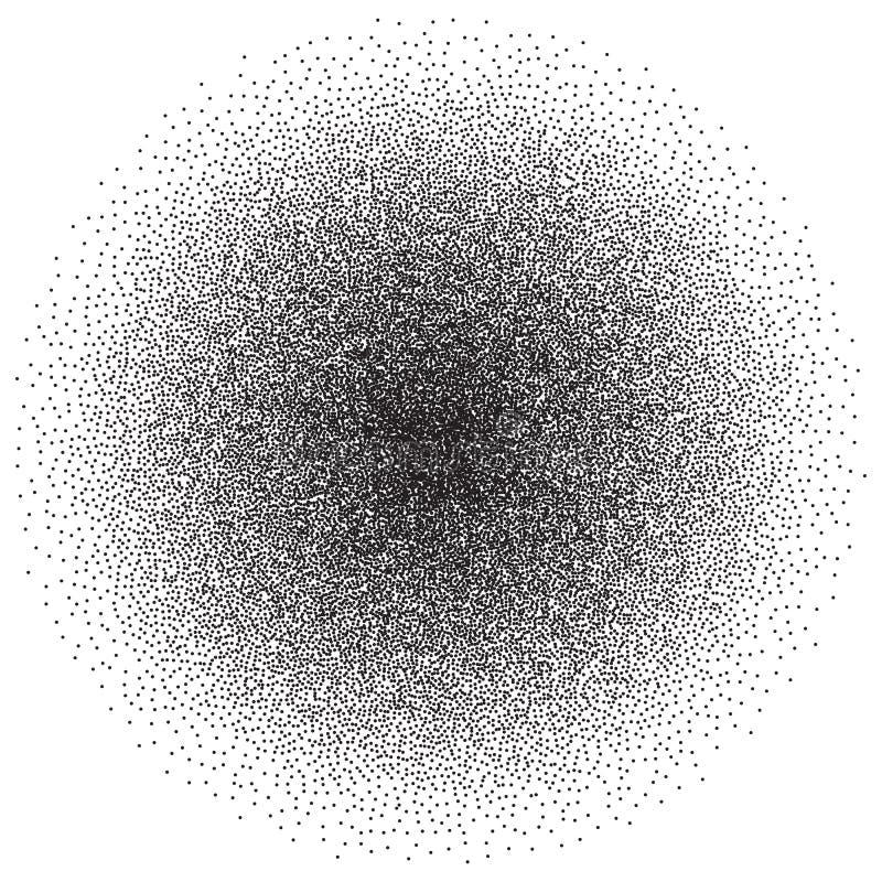 Rétro fond de dotwork de style de vecteur Texture pointillée par résumé de gravure de pointillage illustration de vecteur